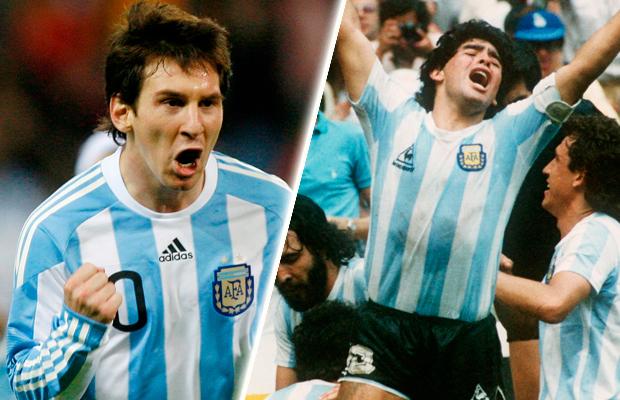 Las comparaciones con Maradona.