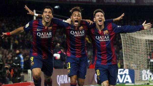 Messi, Neymar y Suárez (FC Barcelona)