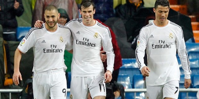 Benzema, Bale y Cristiano Ronaldo (Real Madrid)