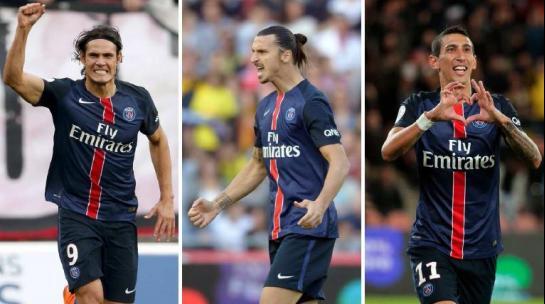 Cavani, Ibrahimovic y Di María