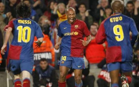 Henry, Eto'o y Messi