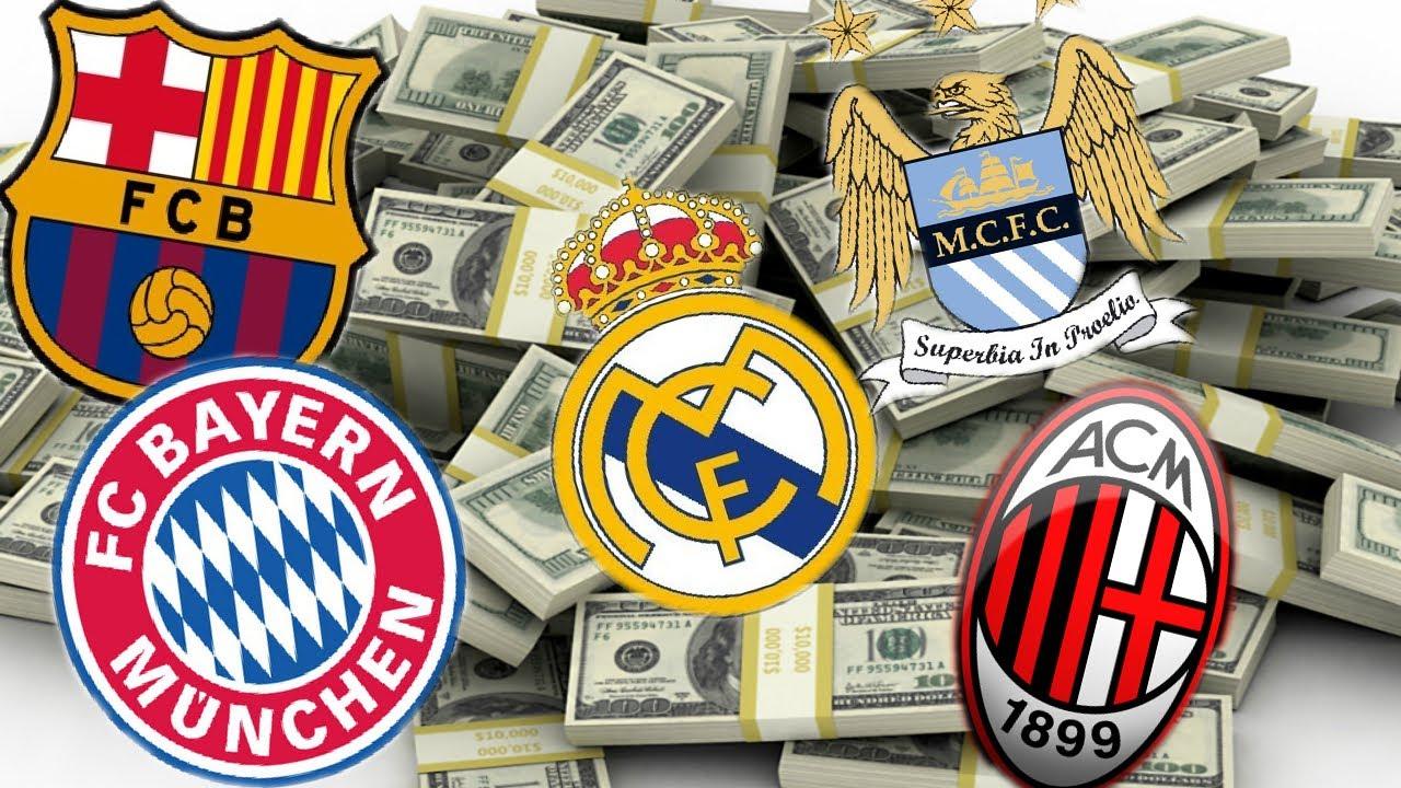 Los 10 equipos de fútbol más ricos del mundo