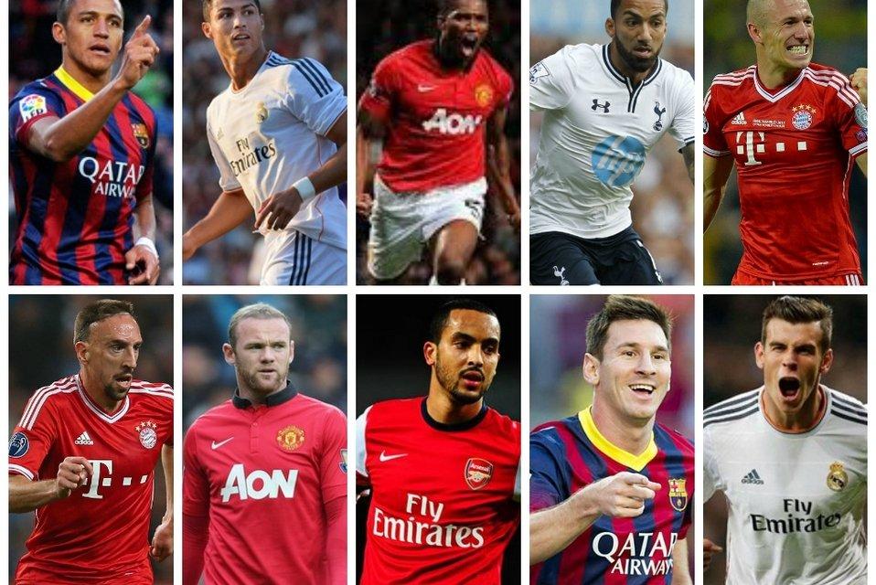 Los 10 futbolistas más rápidos del mundo