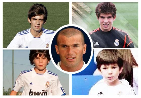 Los 4 hijos futbolistas de Zinedine Zidane