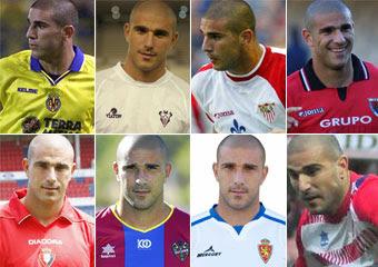 Los 5 jugadores que han jugado en más equipos de la Liga BBVA