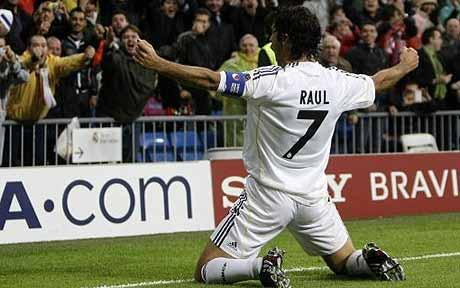 Los 7 mejores goles de Raúl González